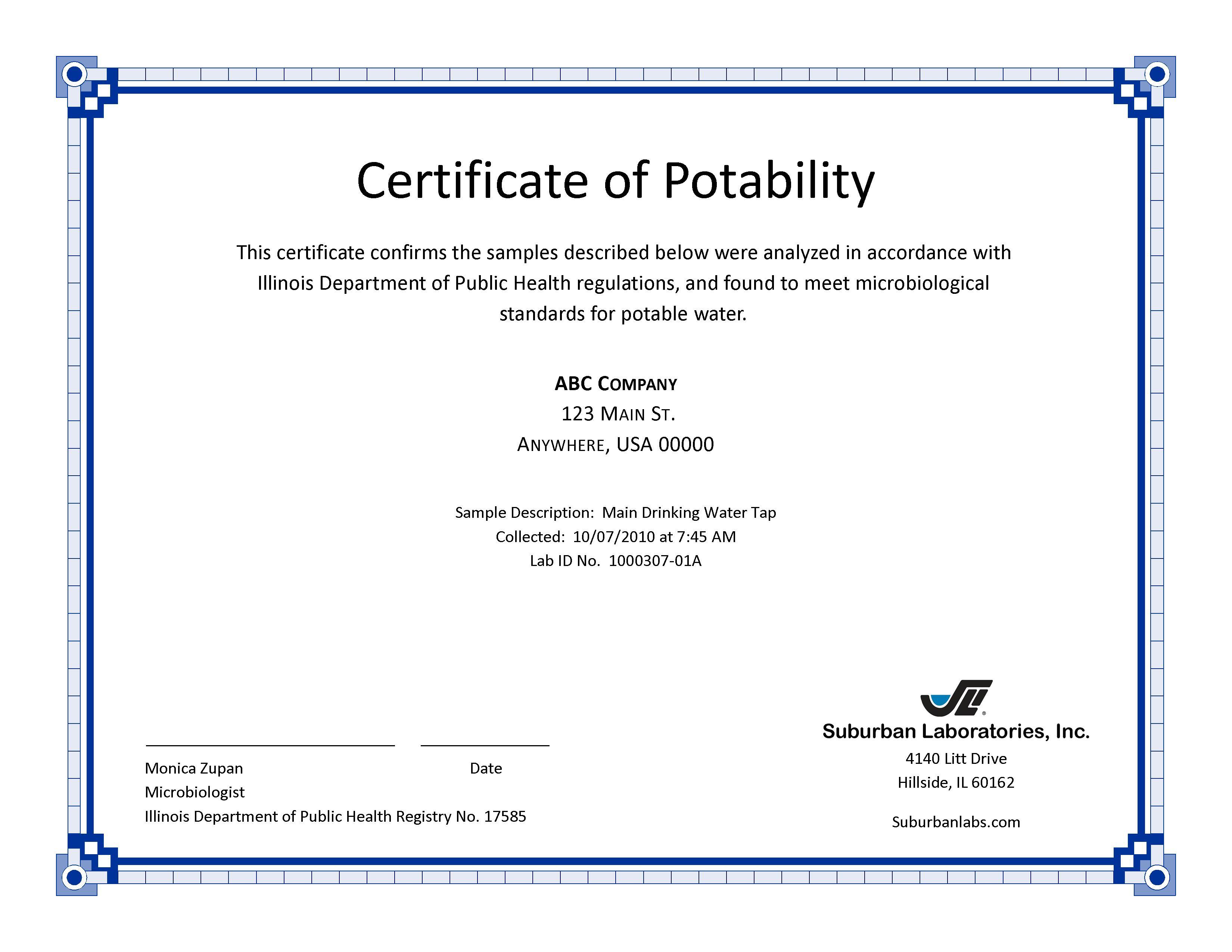 Certificate of Service Templates